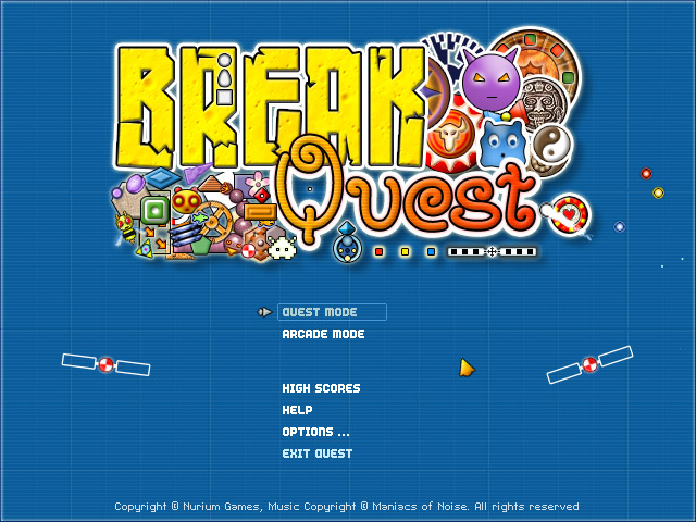 BreakQuest Main Menu